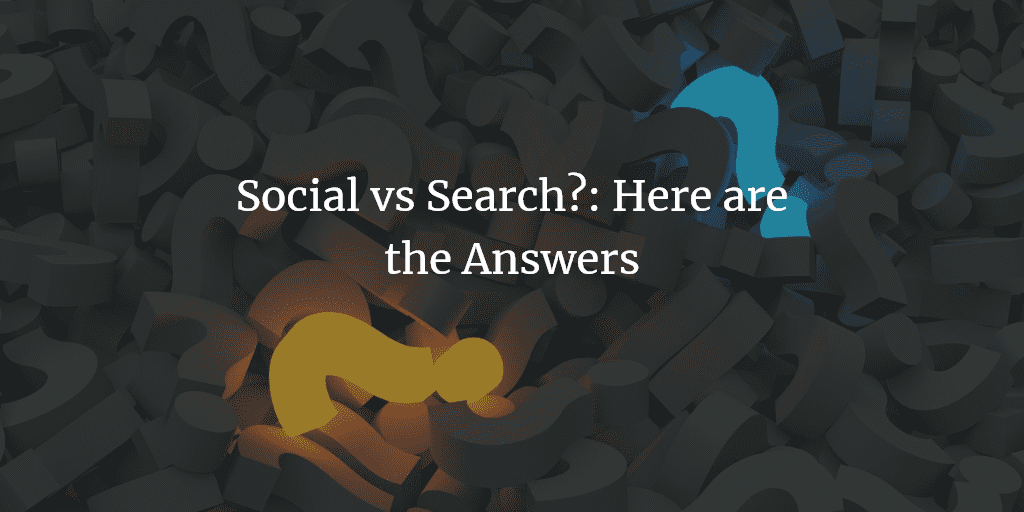 Social For Show and SEO For Dough: Social vs Search Infographic