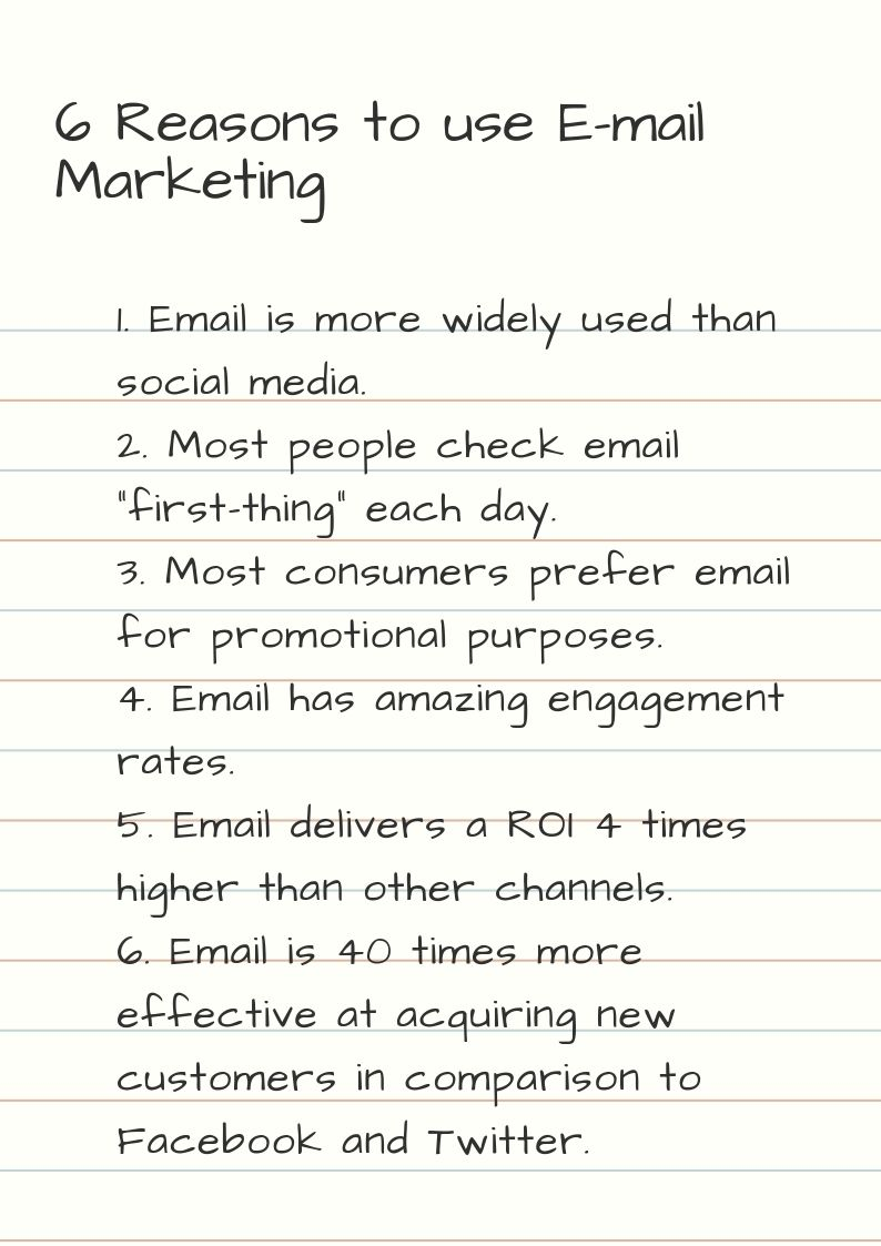 Email Marketing Advantages